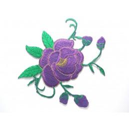APPLIQUE THERMOCOLLANT : fleur 140 x140mm