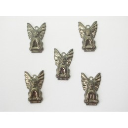 LOT  5 CHARMS METALS : Guardian dog 19 mm
