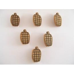 LOT 6 BOUTONS : pomme...