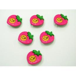 LOT 6 BOUTONS : fraise...