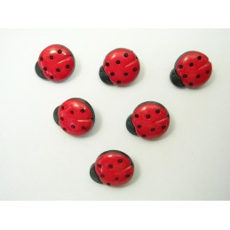 LOT 6 BOUTONS : coccinelle...