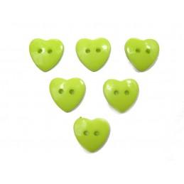 LOT 6 BOUTONS : coeur vert...