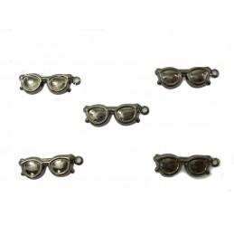 LOT  5 CHARMS METALS : lunette 16mm