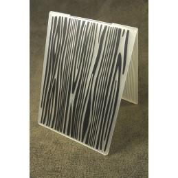"""Classeur de gaufrage en plastique motif """"veinage bois """" format 14.5*10.6*0.3 cm"""