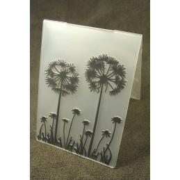 """Classeur de gaufrage en plastique motif """" fleurs des champ """" format 15*10.6*0.3 cm"""