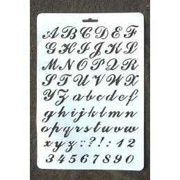 """POCHOIR  plastique Format 21 x 29,7 cm style"""" Alphabet et chiffres """""""