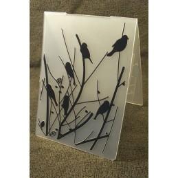 """Classeur d'embossgage en plastique motif """" fleurs en voluptes """" format  14.5*10.6*0.3 cm"""