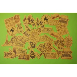 LOT DE 45 STICKERS Vintage animaux , timbre,...