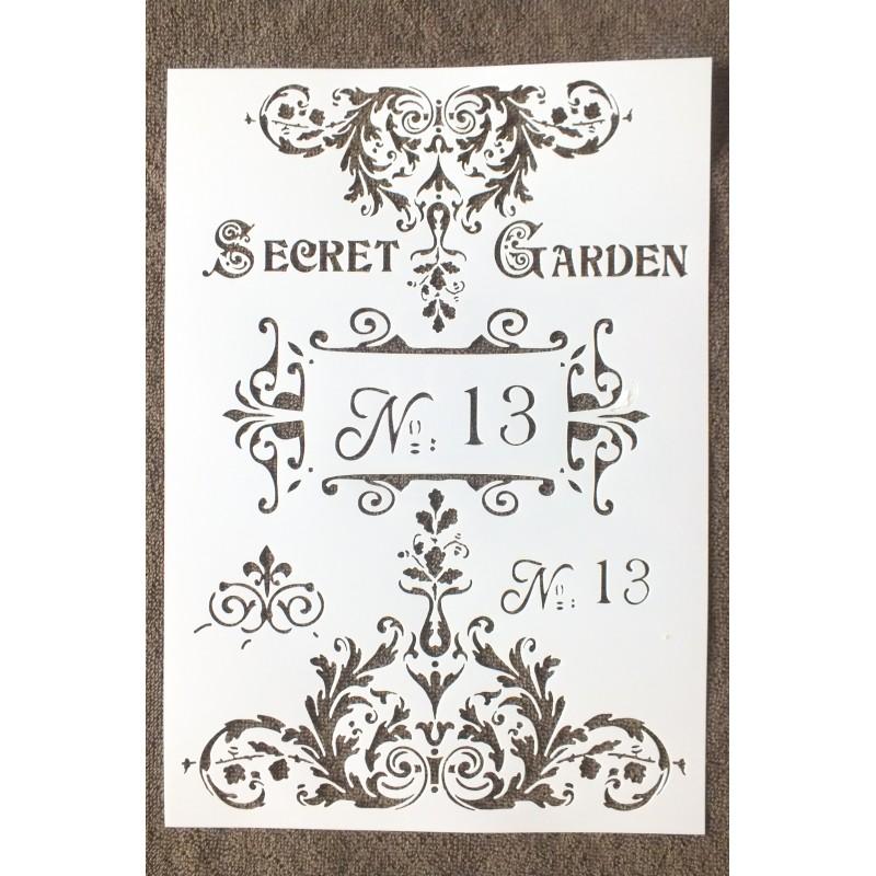 """POCHOIR PLASTIQUE Format A4 (21*29.7cm) motif vintage """"Secret de gardien """""""