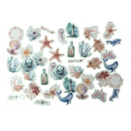 LOT DE 48 STICKERS  ( pack de 12*4 ): Cactus en pot