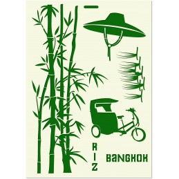 POCHOIR MYLAR  Format A4 (21*29.7cm) Vietnam