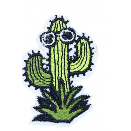 APPLIQUE THERMOCOLLANT : cactus 60*40mm