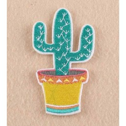 APPLIQUE THERMOCOLLANT : cactus 90*50mm
