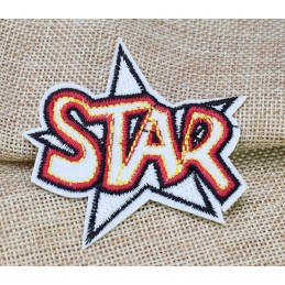 APPLIQUE THERMOCOLLANT : ecusson STAR  65 x60mm