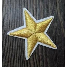 APPLIQUE THERMOCOLLANT : étoile dorée 40mm