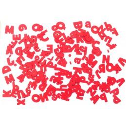 160 lettres chiffres majuscule minucule en cardstock rouge 230 gr
