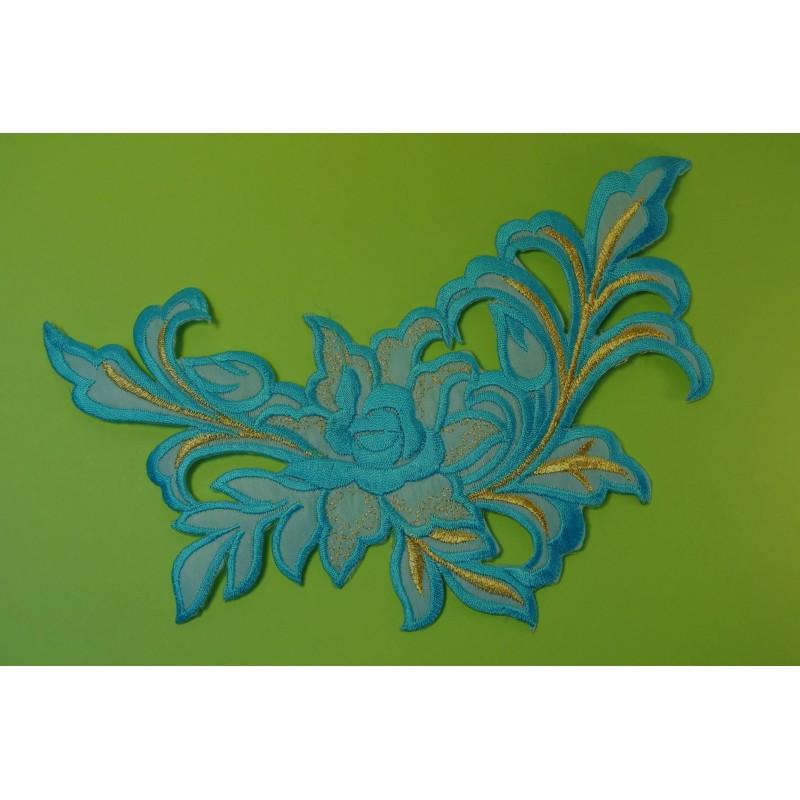 APPLIQUE TISSU THERMOCOLLANT : fleur 210*120mm