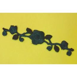 APPLIQUE TISSU THERMOCOLLANT : fleur 100*22mm (08)