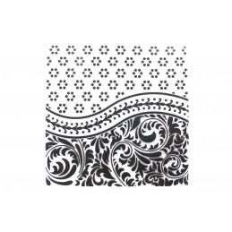 """Classeur d'embossage en plastique motif """"Florish card""""  format  14.5*14.5*0.3 cm"""