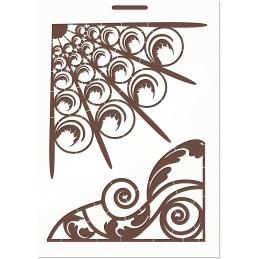 POCHOIR EN PLASTIQUE MYLAR  Format A4 (21*29.7cm) Art Deco