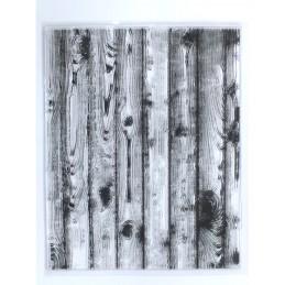 Tampons en silicone transparent  motifs : Planches de bois