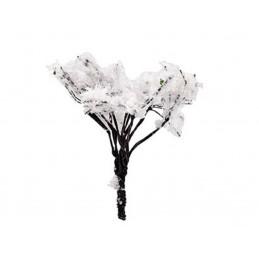 MINIATURE EN SYNTHETIQUE : arbre vert/blanc hauteur 5cm (09)