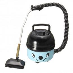 MINIATURE EN PVC : aspirateur bleu/noir hauteur 4cm