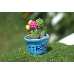 MINIATURE EN RESINE : cactus hauteur 2.2cm (14)