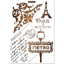 POCHOIR EN PLASTIQUE MYLAR  Format A4 (21*29.7cm) Paris 1912