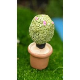 MINIATURE EN RESINE : cactus hauteur 3.2cm