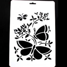 POCHOIR PLASTIQUE 30*21cm : papillons