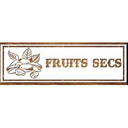 POCHOIR  EN PLASTIQUE MYLAR  Format (18*5,5 cm) : Fruits secs