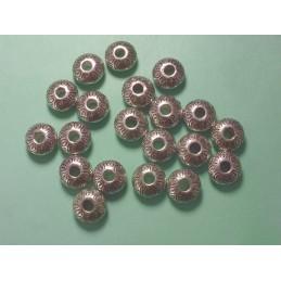 LOT 20 PERLES ACRYLIQUES :  rondes roses/brillantes 8mm