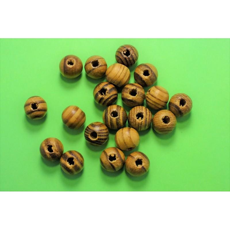 50 perles rondelles bois marron 10mm (04)
