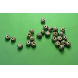 LOT 50 PERLES BOIS :  ronde marron 6mm