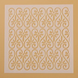 POCHOIR PLASTIQUE 13*13cm : mur motif antique