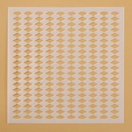 POCHOIR PLASTIQUE 13*13cm : mur motif losange