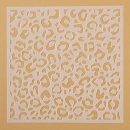 POCHOIR PLASTIQUE 13*13cm : mur motif fantaisie