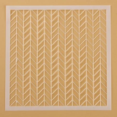 POCHOIR PLASTIQUE 13*13cm : mur motif maille
