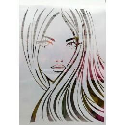 POCHOIR PLASTIQUE 30*21cm : girl (03)