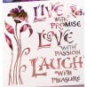 POCHOIR PLASTIQUE 13*13cm : Love with Passion