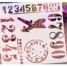 POCHOIR PLASTIQUE 13*13cm : Postcard