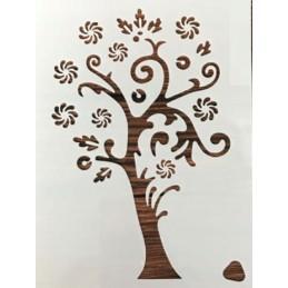 POCHOIR PLASTIQUE 21*16cm : arbre (01) {attributes}