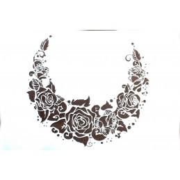 POCHOIR EN PLASTIQUE  Format A4 (21 * 29,7 cm) : Collier de roses