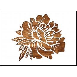 POCHOIR PEINTURE EN PLASTIQUE MYLAR Format A5 (21 * 14,8 cm) : Fleur pivoine