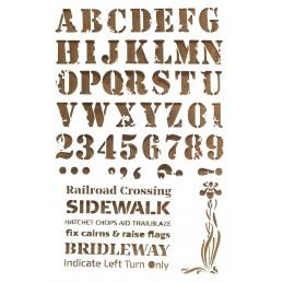 POCHOIR PLASTIQUE Format A4 (21*29.7cm) Alphabet lettre et chiffres 25 mm
