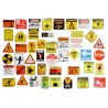LOT DE 45 stickers autocollants en quadrichromie thême Attention Danger de 35 à 60 mm