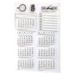 Tampon calendrier en silicone pack de 12 * 10 cm