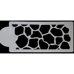 POCHOIR PLASTIQUE 22*11cm : mur motif (01)