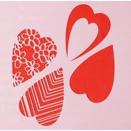 POCHOIR PLASTIQUE 13*13cm : coeur (04)
